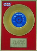 "DUSTY SPRINGFIELD  - 24 Carat Gold 7"" Disc - I ONLY WANT TO BE WITH YOU"